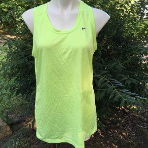 Nike lime women tank top size XL
